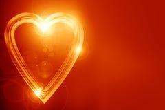 Goldenes Herz Stockfotografie