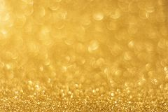 Goldenes Hintergrund bokeh Stockfoto