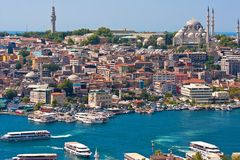 Goldenes Horn in Istanbul stockfotografie