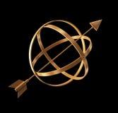 Goldenes Instrument. vektor abbildung