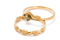 Goldenes Juwel stockbild