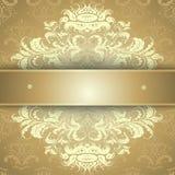 Goldenes kalligraphisches Muster Stockfoto