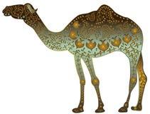Goldenes Kamel lizenzfreie abbildung