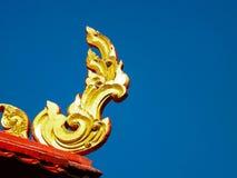 Goldenes Kanok-Muster Stockbild