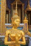 Goldenes Kinnaree von Wat Phra Kaew In Bangkok Lizenzfreie Stockfotografie