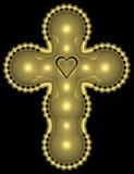 Goldenes Kreuz 001 Stockbilder
