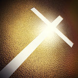 Goldenes Kreuz stock abbildung