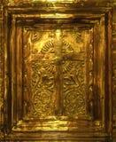 Goldenes Kruzifix Stockfotografie