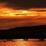 Goldenes Meer. Lizenzfreie Stockfotos