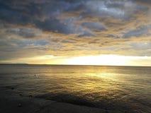 Goldenes Meer Lizenzfreies Stockfoto