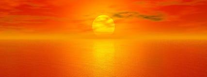 Goldenes Meer stock abbildung