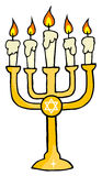 Goldenes menorah Stockfoto