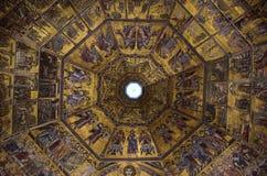 Goldenes Mosaik Lizenzfreies Stockbild