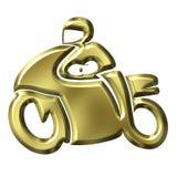 Goldenes Motorrad Lizenzfreie Stockfotografie