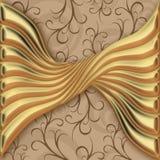 Goldenes Muster Stockbilder