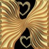 Goldenes Muster Lizenzfreie Stockbilder