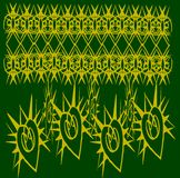 Goldenes Muster auf grünem Hintergrund Lizenzfreies Stockbild
