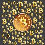 Goldenes Muster Bitcoin Lizenzfreies Stockbild