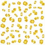 Goldenes Muster der Währung 3D Lizenzfreie Abbildung