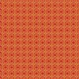 Goldenes Mustermuster mit einem roten Hintergrund als abstrakten Hintergrund lizenzfreie abbildung