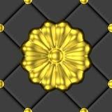 Goldenes nahtloses Muster der Blumenverzierung Lizenzfreie Stockfotografie
