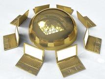 Goldenes Netz Lizenzfreie Stockfotos