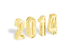 Goldenes 2014 neues Jahr Lizenzfreies Stockbild