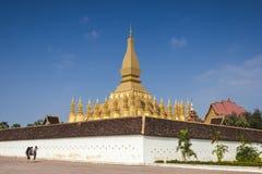 Goldenes pagada in Wat Pha-That Luang, Vientiane, Laos Lizenzfreies Stockfoto