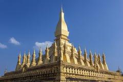 Goldenes pagada in Wat Pha-That Luang, Vientiane, Laos Stockbild