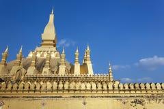 Goldenes pagada in Wat Pha-That Luang, Vientiane-Provinz, Laos Stockfotografie