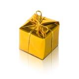 Goldenes Paket Stockbild