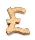 Goldenes Pfundsymbol Lizenzfreie Stockbilder