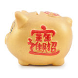 Goldenes piggy Lizenzfreie Stockfotos