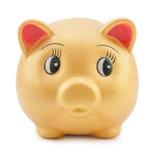 Goldenes piggy Stockfoto