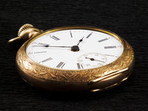 Goldenes pocketwatch Stockbilder