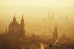 Goldenes Prag stockbild