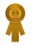 Goldenes Preisfarbband Lizenzfreie Stockfotografie