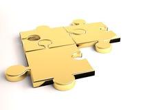 Goldenes Puzzlespiel Lizenzfreies Stockfoto