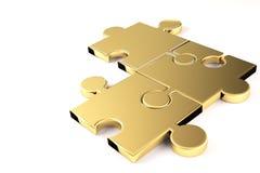 Goldenes Puzzlespiel Stockfotos