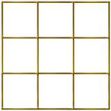 goldenes Rasterfeld 3D stock abbildung