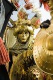 Goldenes Rom-Kostüm Stockfoto