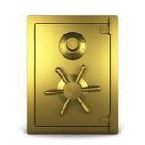 Goldenes Safe Lizenzfreies Stockbild