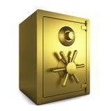 Goldenes Safe Stockbilder