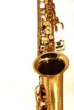 Goldenes Saxophon Lizenzfreie Stockbilder