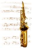 Goldenes Saxophon Stockbild