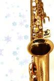 Goldenes Saxophon Lizenzfreie Stockfotografie