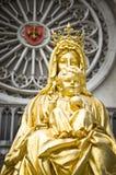 Goldenes Schätzchen Jesus und Mutter Mary Lizenzfreie Stockfotografie