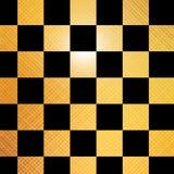 Goldenes Schachbrett Lizenzfreies Stockbild