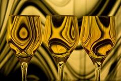 Goldenes Schattenbild Stockbild
