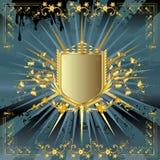 Goldenes Schild Stockfotos